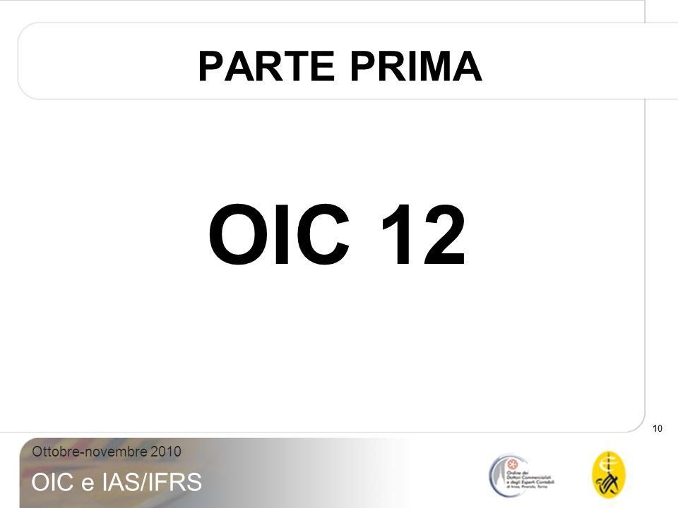 PARTE PRIMA OIC 12