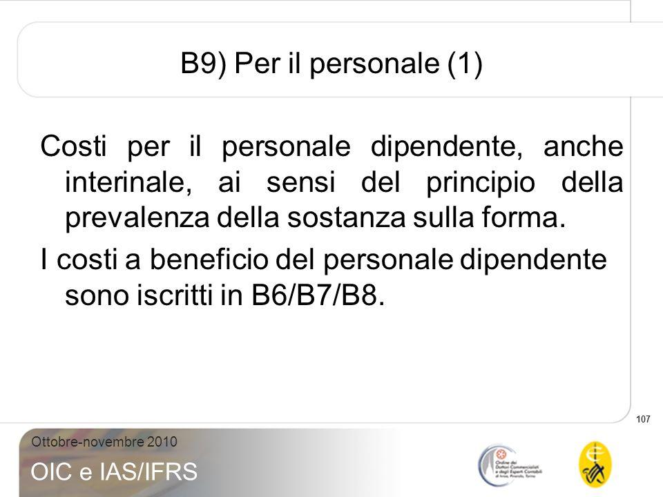 B9) Per il personale (1)
