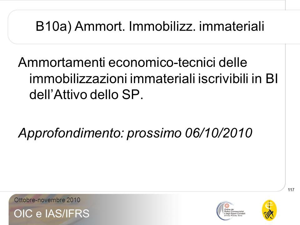 B10a) Ammort. Immobilizz. immateriali
