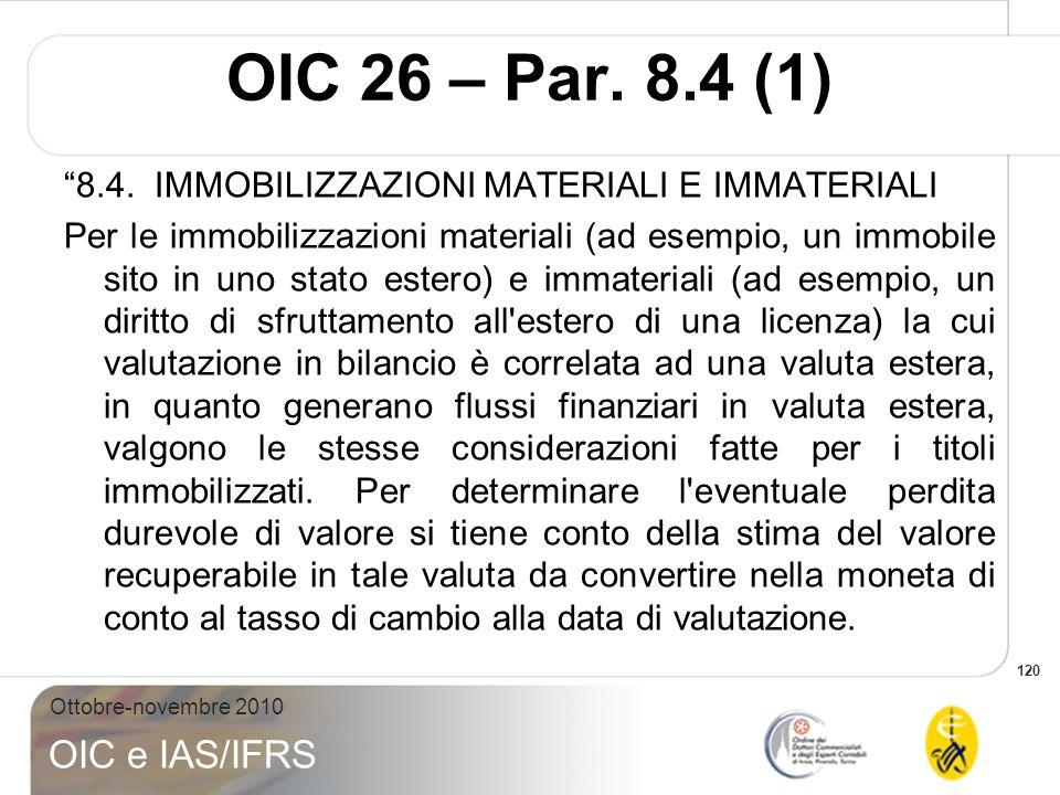 OIC 26 – Par. 8.4 (1)