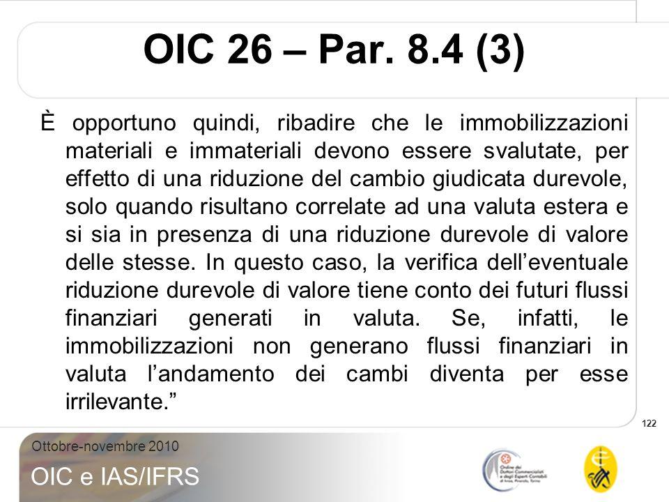 OIC 26 – Par. 8.4 (3)