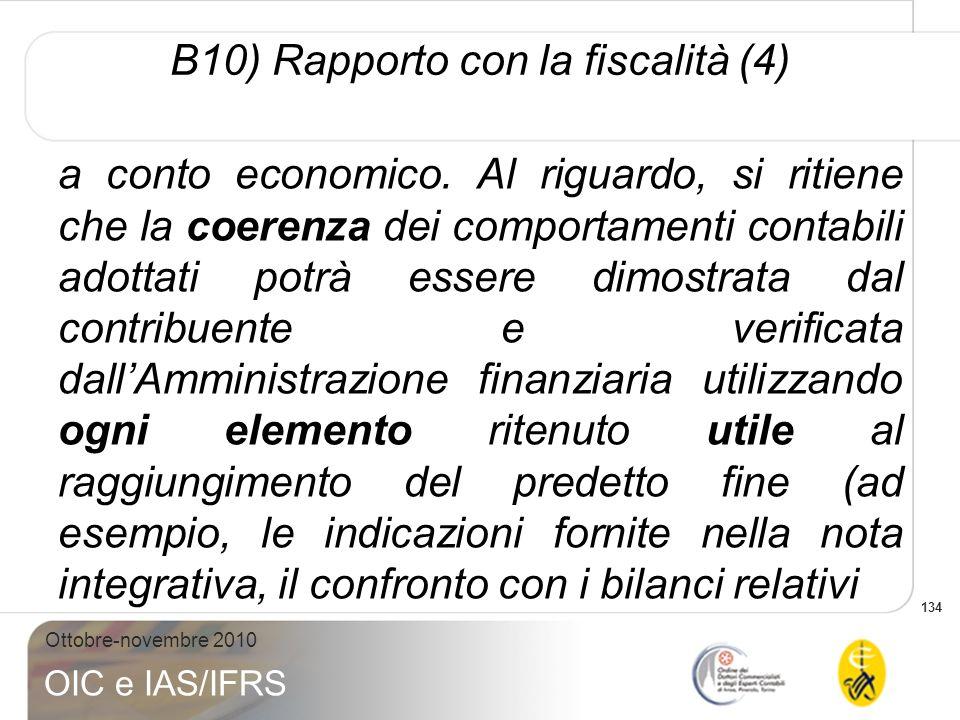 B10) Rapporto con la fiscalità (4)