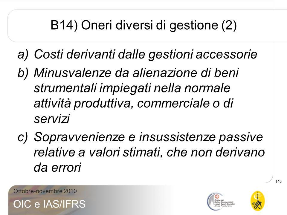 B14) Oneri diversi di gestione (2)