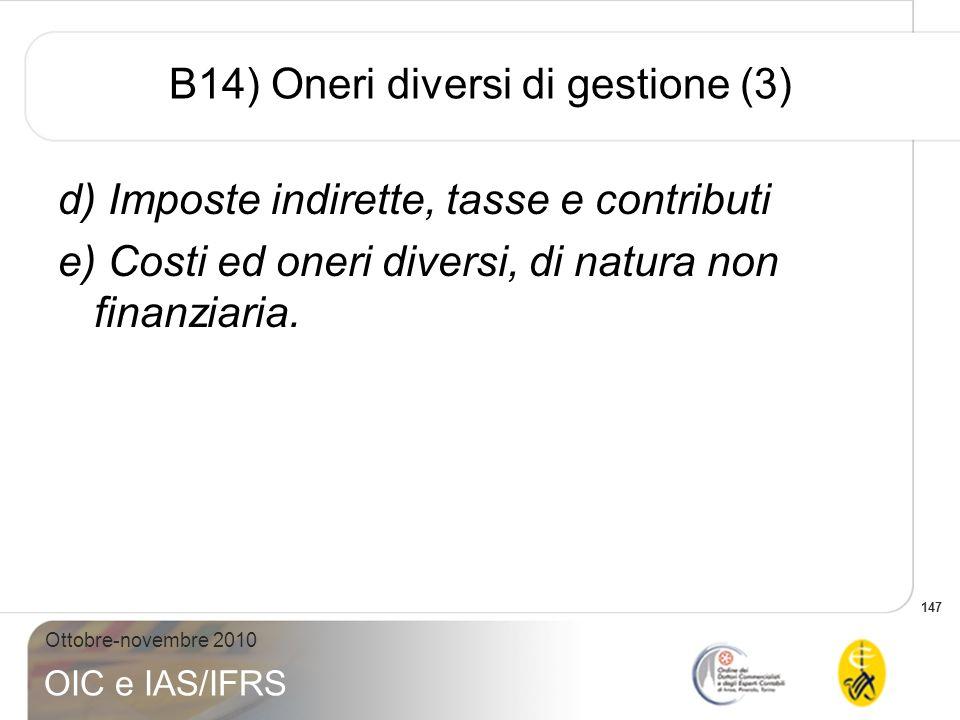 B14) Oneri diversi di gestione (3)