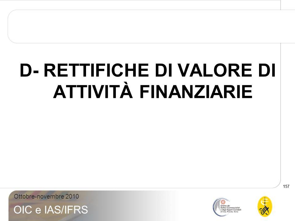 D- RETTIFICHE DI VALORE DI ATTIVITÀ FINANZIARIE