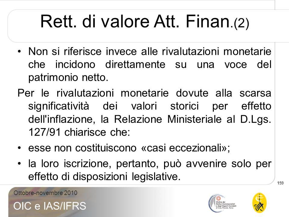 Rett. di valore Att. Finan.(2)