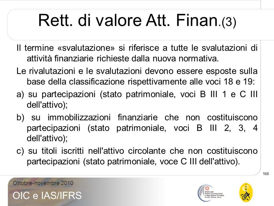 Rett. di valore Att. Finan.(3)