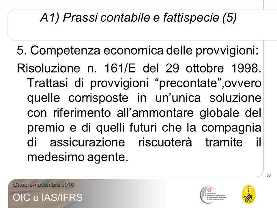 A1) Prassi contabile e fattispecie (5)