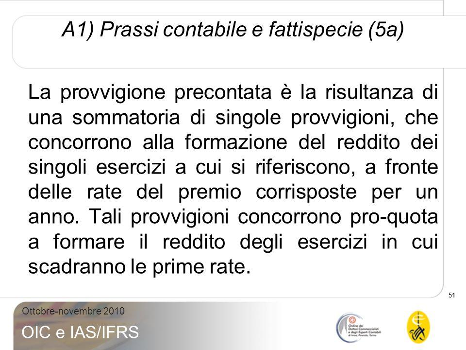 A1) Prassi contabile e fattispecie (5a)