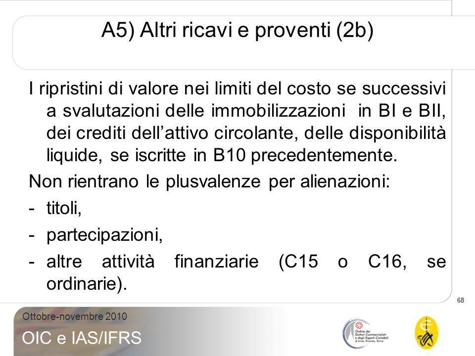 A5) Altri ricavi e proventi (2b)