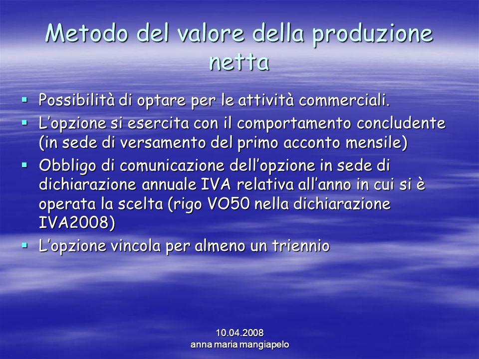Metodo del valore della produzione netta