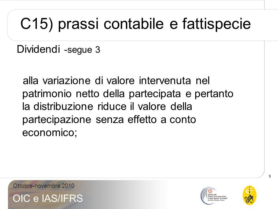 C15) prassi contabile e fattispecie