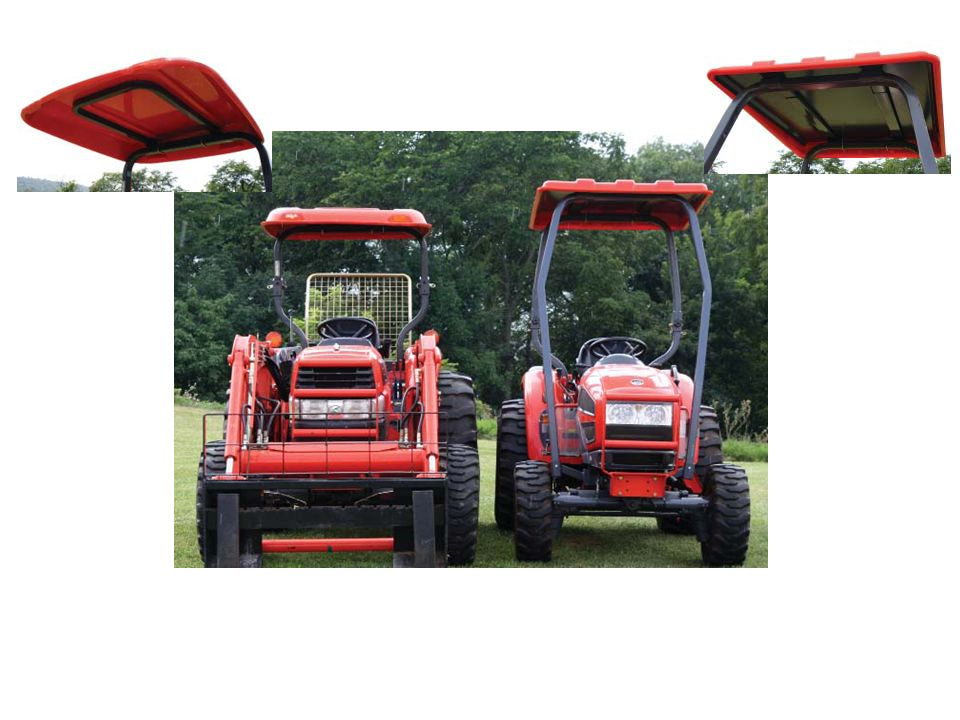 A comparison between farm tractors with a ROPS (rollover protective structure) and a FOPS (falling object protective structure)