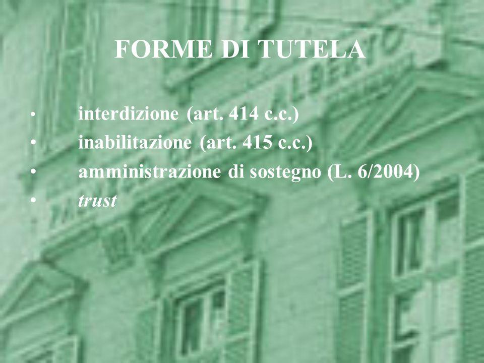 FORME DI TUTELA inabilitazione (art. 415 c.c.)