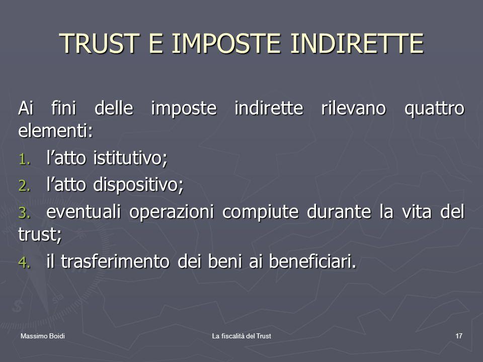 TRUST E IMPOSTE INDIRETTE