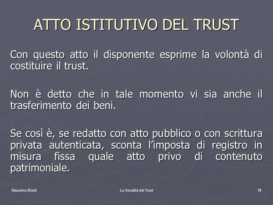 ATTO ISTITUTIVO DEL TRUST