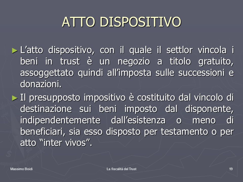 ATTO DISPOSITIVO