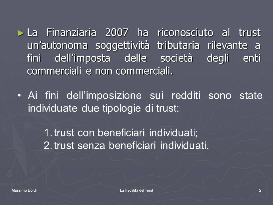 trust con beneficiari individuati;