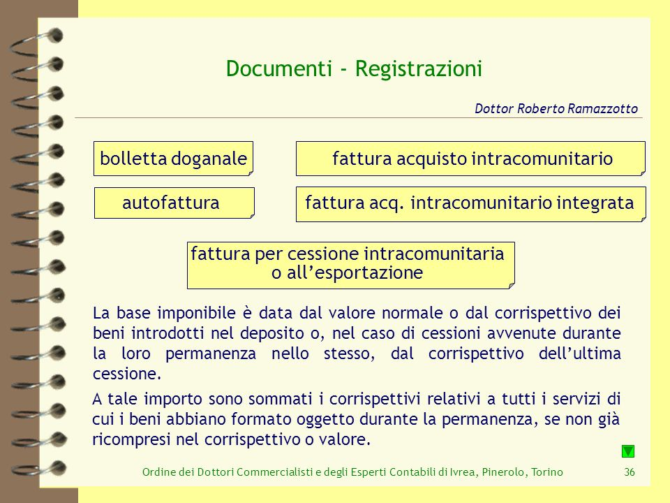 Documenti - Registrazioni