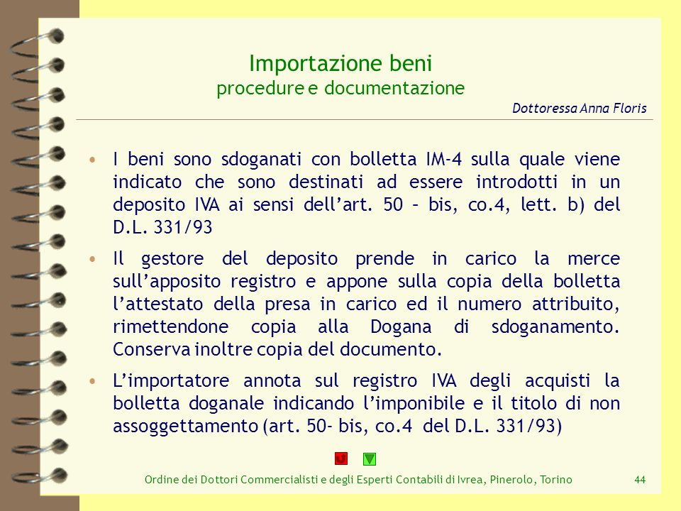 Importazione beni procedure e documentazione