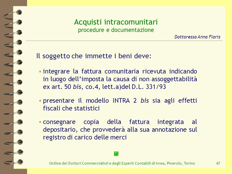 Acquisti intracomunitari procedure e documentazione