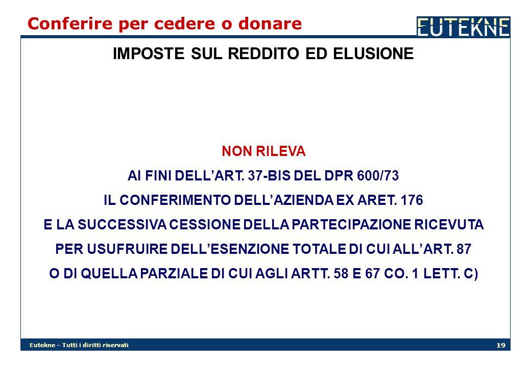 IMPOSTE SUL REDDITO ED ELUSIONE