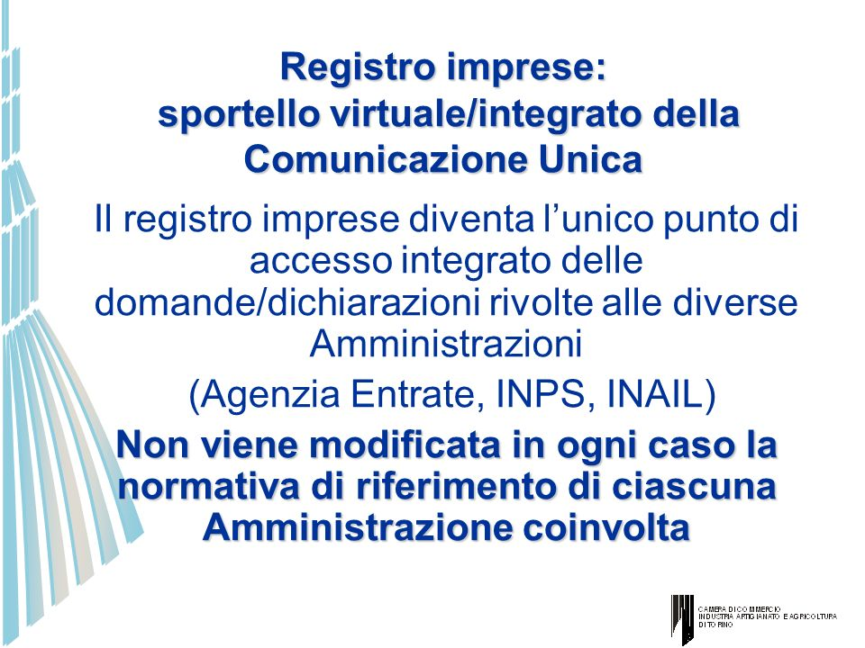 (Agenzia Entrate, INPS, INAIL)
