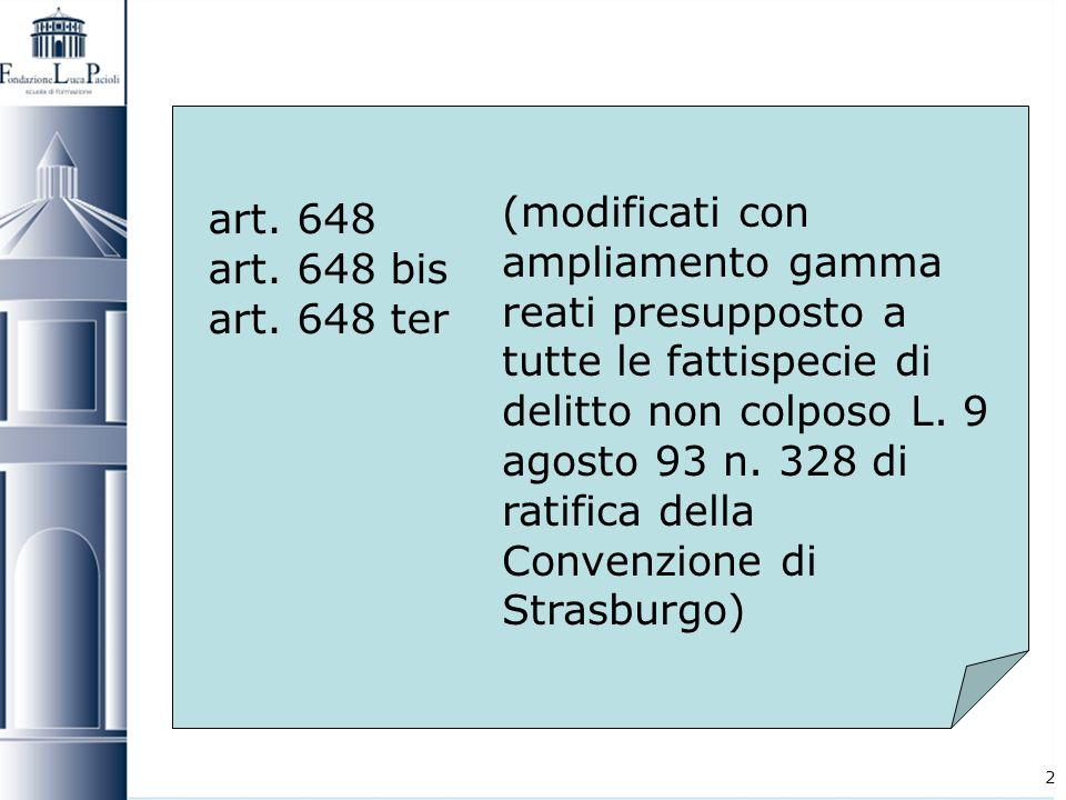 art. 648 art. 648 bis. art. 648 ter.
