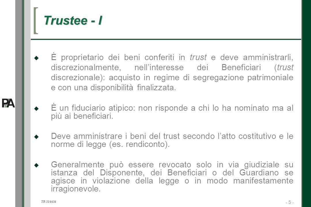 Trustee - I