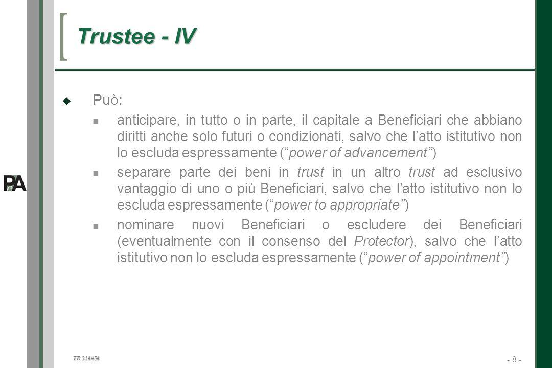 Trustee - IV Può: