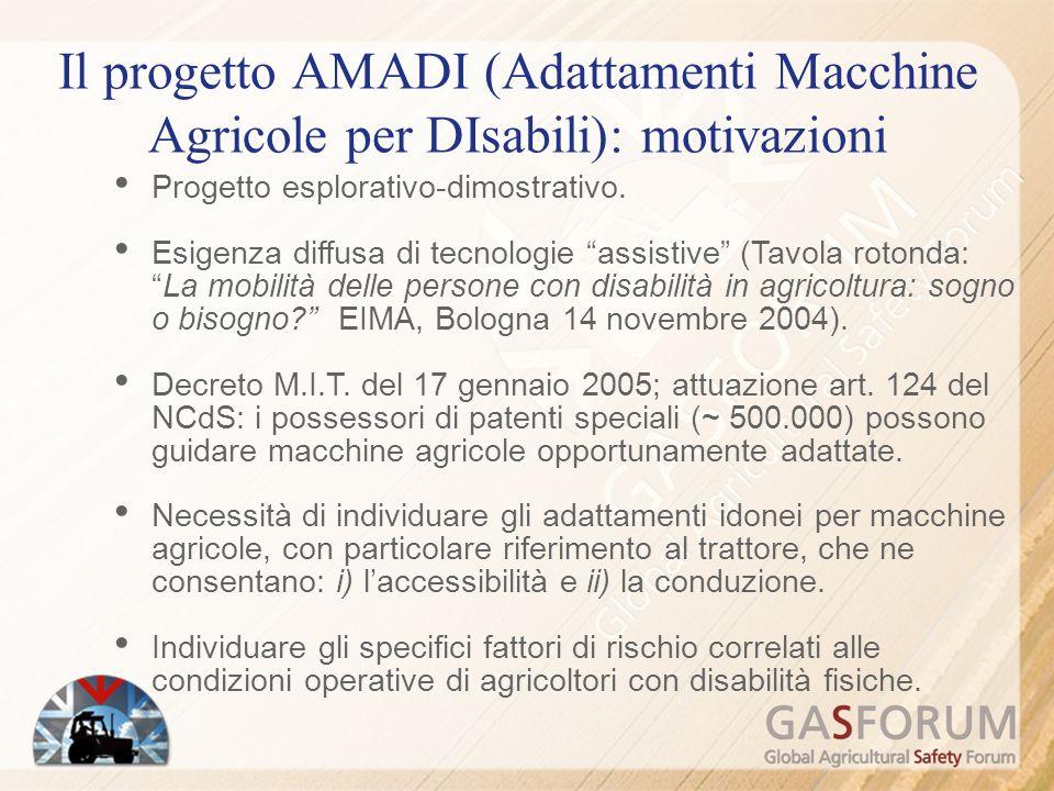 Il progetto AMADI (Adattamenti Macchine Agricole per DIsabili): motivazioni