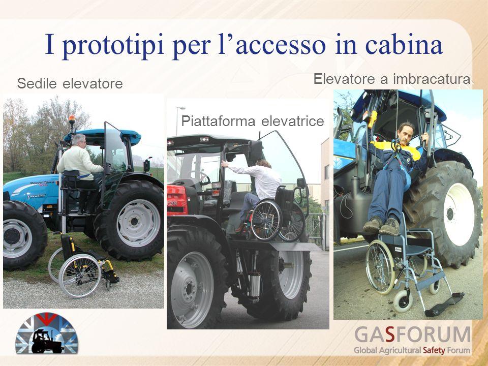 I prototipi per l'accesso in cabina