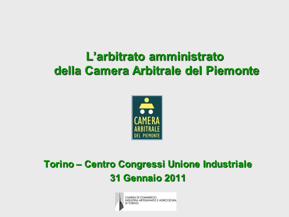 L'arbitrato amministrato della Camera Arbitrale del Piemonte