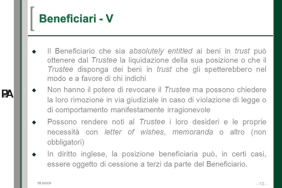 Beneficiari - V
