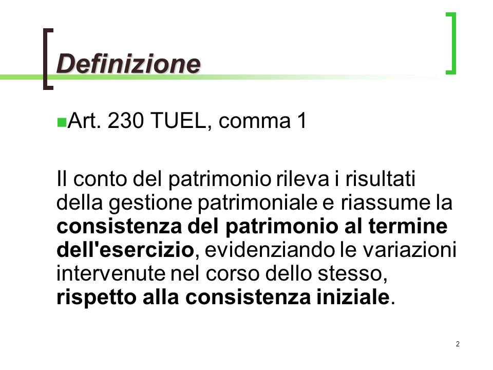 Definizione Art. 230 TUEL, comma 1