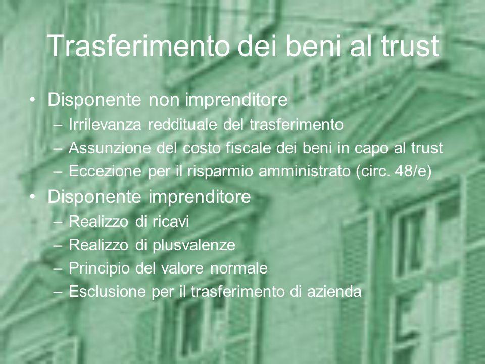 Trasferimento dei beni al trust