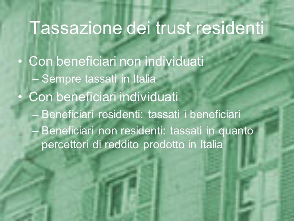 Tassazione dei trust residenti