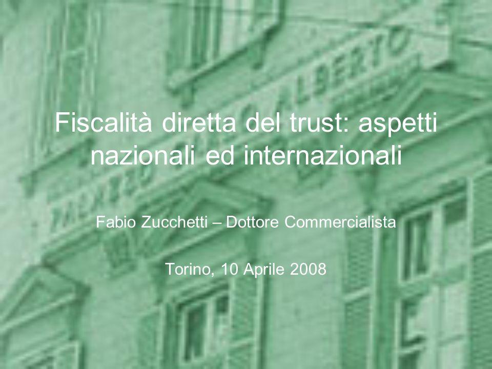 Fiscalità diretta del trust: aspetti nazionali ed internazionali