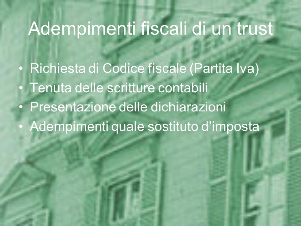 Adempimenti fiscali di un trust