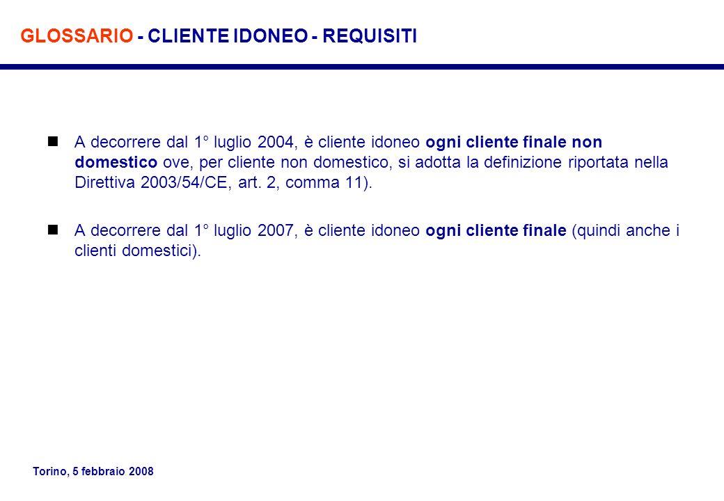 GLOSSARIO - CLIENTE IDONEO - REQUISITI