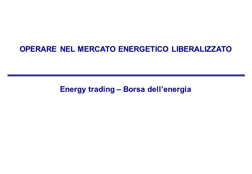 OPERARE NEL MERCATO ENERGETICO LIBERALIZZATO