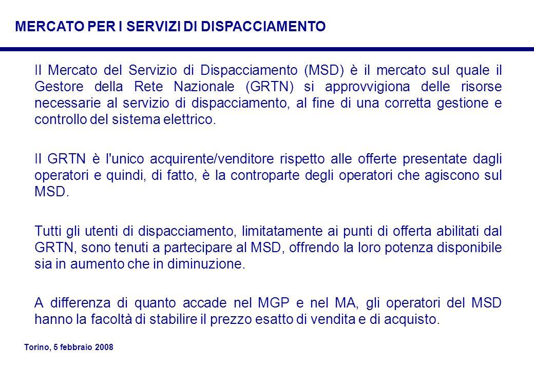 MERCATO PER I SERVIZI DI DISPACCIAMENTO