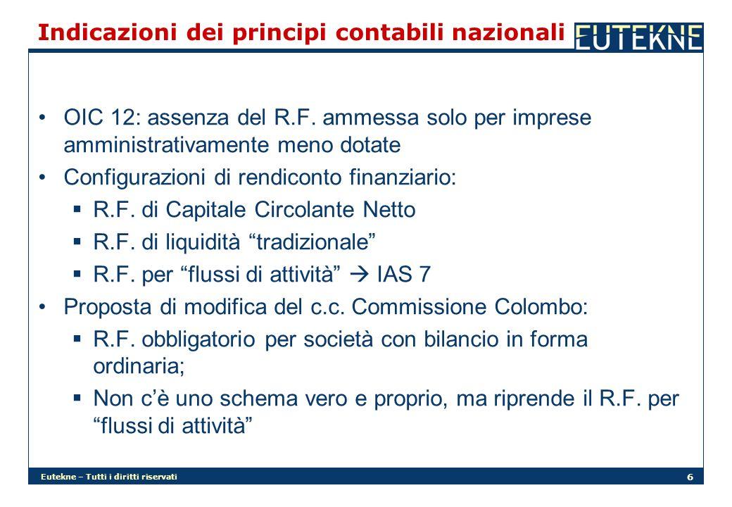 Indicazioni dei principi contabili nazionali