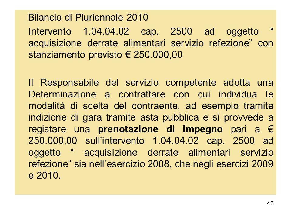 Bilancio di Pluriennale 2010
