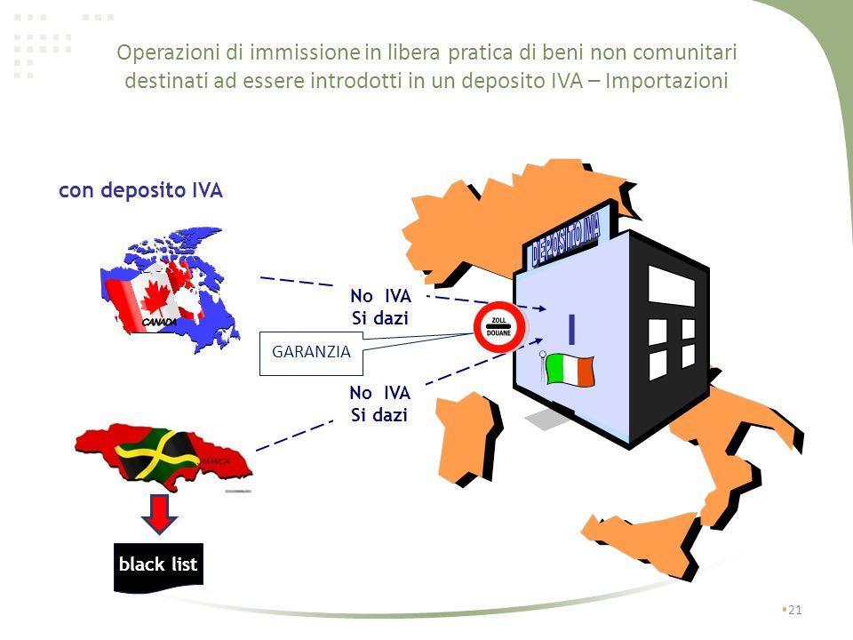 Operazioni di immissione in libera pratica di beni non comunitari destinati ad essere introdotti in un deposito IVA – Importazioni