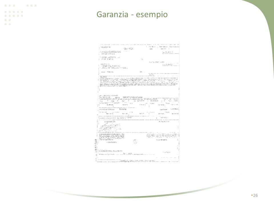 Garanzia - esempio