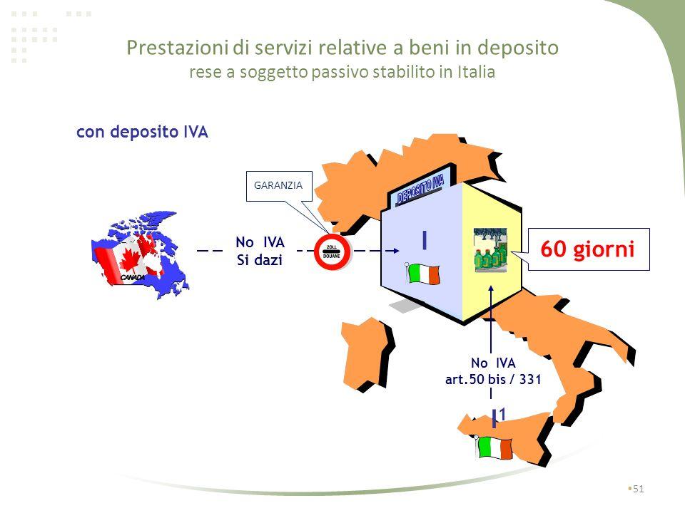 Prestazioni di servizi relative a beni in deposito rese a soggetto passivo stabilito in Italia
