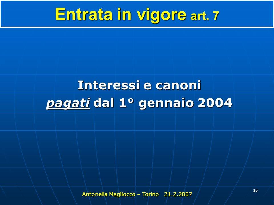 Antonella Magliocco – Torino 21.2.2007