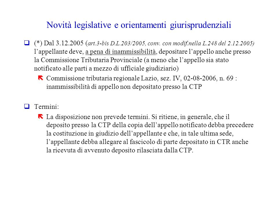 Novità legislative e orientamenti giurisprudenziali