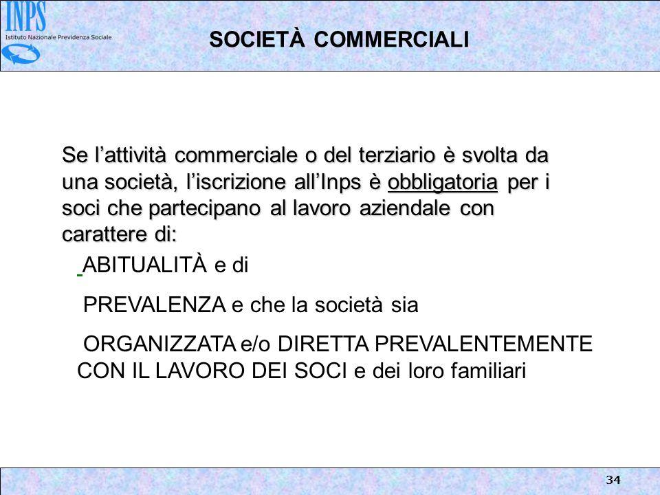 SOCIETÀ COMMERCIALI